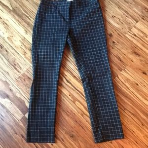 Black windowpane trousers